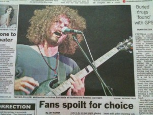 Wolfmother in Sunday Times